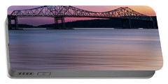 Tappan Zee Bridge Sunset Portable Battery Charger