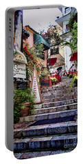 Taormina Steps Sicily Portable Battery Charger by David Smith