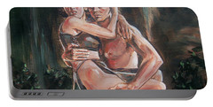 Portable Battery Charger featuring the painting Tarzan And His Mate by Bryan Bustard