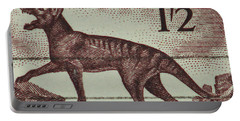 Tasmanian Tiger Vintage Postage Stamp Portable Battery Charger