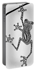 Tattooed Tree Frog - Zentangle Portable Battery Charger by Jani Freimann