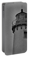 Portable Battery Charger featuring the photograph Tawas Point In The Rain by Daniel Thompson