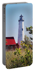 Portable Battery Charger featuring the photograph Tawas Point Lighthouse...from Tawas Bay Side by Daniel Thompson