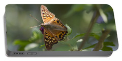 Tawny Emperor On Hibiscus Portable Battery Charger