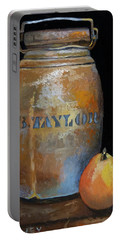 Taylor Jug With Pear Portable Battery Charger by Catherine Twomey