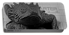 Tcu Horned Frog Black And White Portable Battery Charger