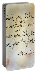 Tea Quote From Peter Pan Portable Battery Charger