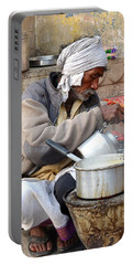 Tea Stall On The Ghats  - Varanasi India Portable Battery Charger