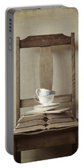 Portable Battery Charger featuring the photograph Tea Tales by Amy Weiss