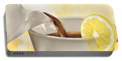 Tea Time Portable Battery Charger by Veronica Minozzi