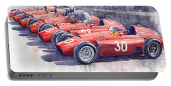 1956 Team Lancia Ferrari D50 Type C 1956 Italian Gp Portable Battery Charger