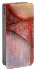 Portable Battery Charger featuring the painting Tears Of War by Michelle Joseph-Long