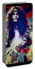 Ted Nugent - Red White And Blue Portable Battery Charger by Absinthe Art By Michelle LeAnn Scott