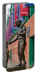 Portable Battery Charger featuring the photograph Teddy Ballgame by Mike Ste Marie