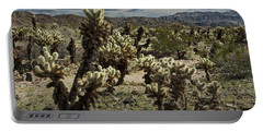 Teddy Bear Cholla Cactus In California 0251 Portable Battery Charger