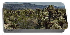 Teddy Bear Cholla Cactus In California 0253 Portable Battery Charger