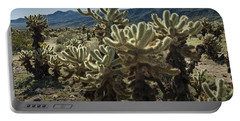Teddy Bear Cholla Cactus In California 0263 Portable Battery Charger