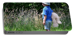 Teddy Bear Walk Portable Battery Charger by Keith Armstrong