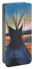 Teepee At Sunset Part 1 Portable Battery Charger