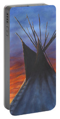 Teepee At Sunset Part 2 Portable Battery Charger