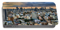 Portable Battery Charger featuring the photograph Tel Aviv Skyline Winter Time by Ron Shoshani