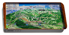 Telluride Ski Map Detail  Portable Battery Charger by David Lee Thompson