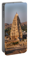 Temple At Hampi Portable Battery Charger
