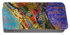 Portable Battery Charger featuring the tapestry - textile Temple Of The Goddess Eye Vol 1 by Apanaki Temitayo M