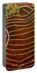 Portable Battery Charger featuring the tapestry - textile Temple Of The Goddess Eye Vol 2 by Apanaki Temitayo M