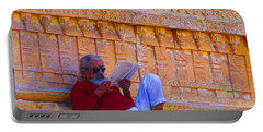 Temple Priest Jaisalmer Fort Rajasthan India Portable Battery Charger