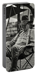 Cowboy And The Ten Gallon Hat Portable Battery Charger