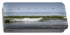 Portable Battery Charger featuring the photograph Ten Pelicans by Steven Sparks