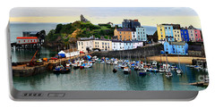 Tenby Harbour Panorama Portable Battery Charger