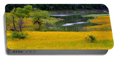 Tennessee Black-eyed Susan Field Portable Battery Charger by Kathy Barney
