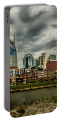 Tennessee - Nashville From Across The Cumberland River Portable Battery Charger