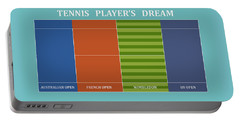 Tennis Player-s Dream Portable Battery Charger
