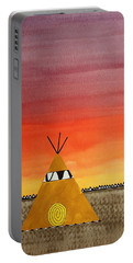 Tepee Or Not Tepee Original Painting Portable Battery Charger