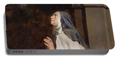 Teresa Of Avilas Vision Of A Dove Portable Battery Charger by Peter Paul Rubens