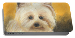Portable Battery Charger featuring the painting Terrier by Jeanne Fischer