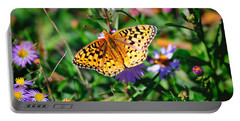 Portable Battery Charger featuring the photograph Teton Butterfly by Greg Norrell