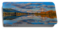 Teton Panoramic Reflections At Oxbow Bend Portable Battery Charger