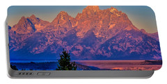 Portable Battery Charger featuring the photograph Teton Peaks by Greg Norrell