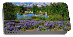 Teton Spring Lupines Portable Battery Charger by Greg Norrell
