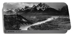 Tetons And The Snake River Portable Battery Charger
