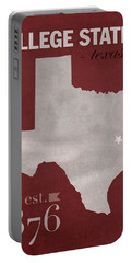 Texas A And M University Aggies College Station College Town State Map Poster Series No 106 Portable Battery Charger by Design Turnpike