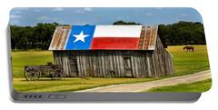 Texas Barn Flag Portable Battery Charger