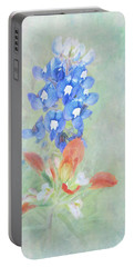 Texas Bluebonnet And Indian Paintbrush Portable Battery Charger