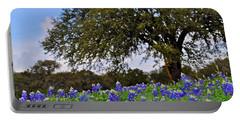 Texas Bluebonnet Field Portable Battery Charger