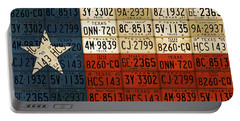 Texas Flag The Lone Star State License Plate Art Portable Battery Charger by Design Turnpike