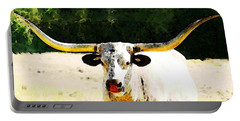 Texas Longhorn - Bull Cow Portable Battery Charger